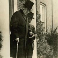 Woodrow Wilson Leaving his House for Armistice Day Celebration