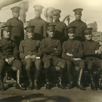 Group Portrait of Seated Officers; Includes: General M. Churchill, Colonel Ayres, Major Helms, Major Marsten, Major Fling, Captain Childs