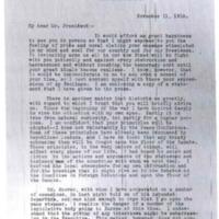 Key Pittman to Woodrow Wilson