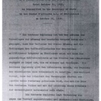 ORIGINAL TEXT of a Communication from the German Government