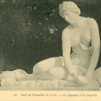 Postcard of Statue from Versailles Park