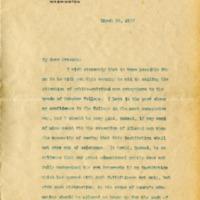 Woodrow Wilson to Friends of Goucher College
