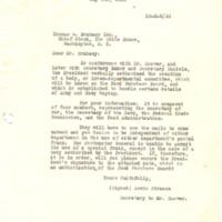 Lewis L. Strauss to Thomas W. Brahany