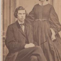 Carte de visite of Mr. and Mrs. S.W. Nourse