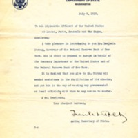 Frank L. Polk to All Diplomatic Officers of the United States at London, Paris, Brussels, and The Hague
