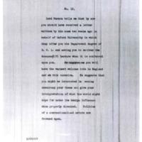 Colonel House to Woodrow Wilson