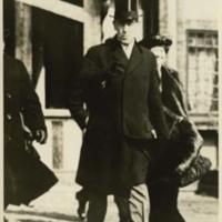 Woodrow Wilson and Ellen Axson Wilson Leaving Princeton for Washington