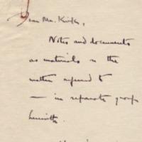 Stanley K. Hornbeck to Alexander C. Kirk