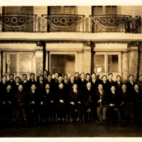 Photograph of the Chinese Peace Commission at the Hotel Lutitia in Paris