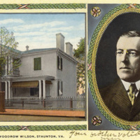 Manse, Northeast View and Woodrow Wilson Portrait
