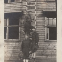 Three Soldiers Posing with a Ladder