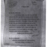 Woodrow Wilson to Jean-Jules Jusserand