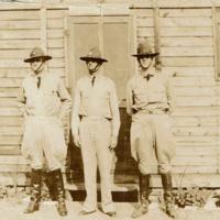 Major Thomas J. Koger at Fort Oglethorpe with Junior Officers