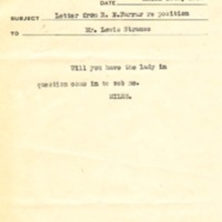 Memorandum to Lewis L. Strauss