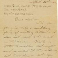 Earl S. Parish to Mr. Wells Parish
