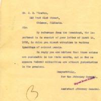 Ernest Knaebel to JB Winston