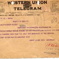 Henry Allen Boyd to Woodrow Wilson