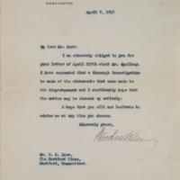 Woodrow Wilson to Willie O. Burr