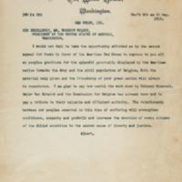 Albert I to Woodrow Wilson