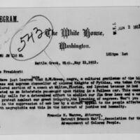 Francis H. Warren to Woodrow Wilson