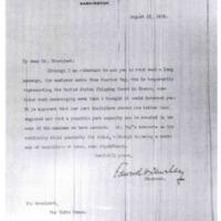Edward N. Hurley to Woodrow Wilson