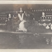 View of Set with Dancers and Water