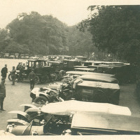 Automobiles and Drivers at Longchamps, France