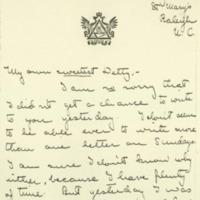 Eleanor Randolph Wilson McAdoo to Jessie Woodrow Wilson Sayre