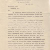Clarence H. MacKay to Robert Lansing