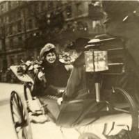 Edith Entering Paris in a Carriage