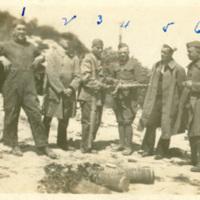 Edward D. Shoor with Five Soldiers in Belgium