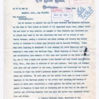 J. Francis Robinson Field to Woodrow Wilson