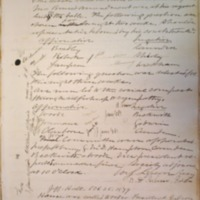 Jefferson Literary and Debating Society Minute Book