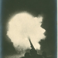 Cannon Firing at Night, Chateau Thierry