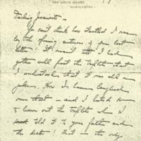 Helen Woodrow Bones to Jessie Woodrow Wilson Sayre