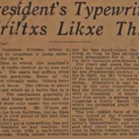 President's Typewriter Wri!txs Likxe Th?is