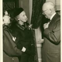 Eisenhower Speaking to Emily Smith
