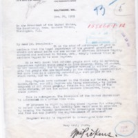 William Pickens to Woodrow Wilson
