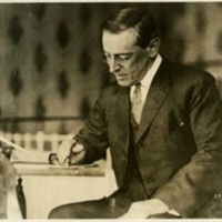 Woodrow Wilson at His Desk