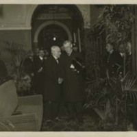 Woodrow Wilson and an Unidentified Man, Probably at the Paris Peace Conference