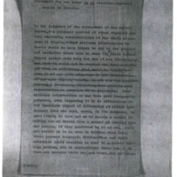 Statement for the Press in re American-Japanese Action in Siberia.
