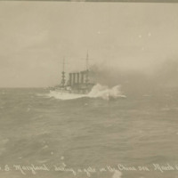 USS Maryland during a Gale in the China Sea