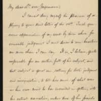 Woodrow Wilson to Hans CG Von Jagemann