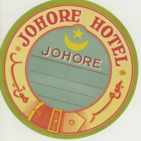 Luggage Label for the Johore Hotel