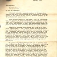 William Gibbs McAdoo to Woodrow Wilson