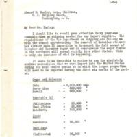 Herbert Hoover to Edward Nash Hurley