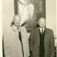 Portrait of Eisenhower and Senator Bryd
