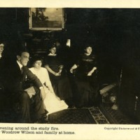 Wilson and Family around the Study Fire