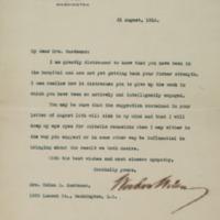 Woodrow Wilson to Helen H. Gardener