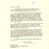 Edgar Rickard to Woodrow Wilson